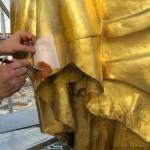 la foglia d'oro viene stesa