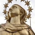 Madonnina del Duomo di Milano, il volto, prima del restauro
