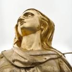 Madonnina del Duomo di Milano, il volto durante il restauro