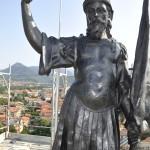 La statua di Sant'Alessandro, dopo il restauro