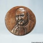 Tondo Papa Giovanni XXIII cm 20, bronzo