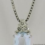 Pendente con acquamarina e diamanti