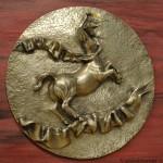 Centauro in peltro cesellato e argentato (1)