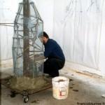 Statua di Papa Giovanni - durante la costruzione armatura