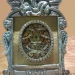 Reliquiario B.M.V., S. Joseph, Petri, Jacobi, in bronzo argentato e dorato