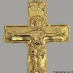 San Procolo croce in lamina d'oro sbalzata e cesellata