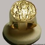 Anello episcopale Ambrogino, oro o argento