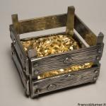 Cassetta del pane argento sbalzato, cesellato e parzialmente dorato