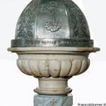 copertura-di-fonte-battesimale-della-Parrocchia-di-Crespi d'Adda-in-rame-sbalzato,-cesellato-e-argentato