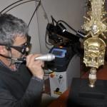 l'utilizzo del laser nel restauro delle oreficerie