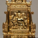 Deposizione pace in argento dorato
