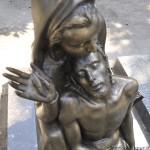 la scultura dopo il restauro