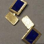 gemelli in oro inciso e lapislazzuli