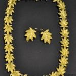 girocollo foglie oro inciso gr.77