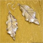 orecchini a foglia in argento