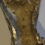 la schiena del Cristo con il saggio del metallo