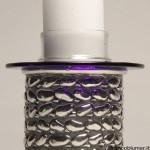 Sassi porta cero in argento sbalzato e cesellato