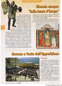 ARTICOLO COMPARSO SU SANTUARIO DELLA MADONNA DI TIRANO N 6 2009