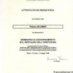 Seminario di aggiornamento sul restauro dell' oreficeria