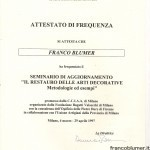 """Seminario di aggiornamento """"Il restauro delle arti decorative - metodologie ed esempi"""""""