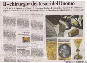 """Il """"Chirurgo"""" dei tesori del Duomo"""