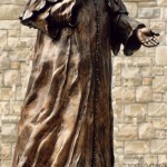 parrocchia di Gavarno anno 2000, per la beatificazione del Pontefice altezza cm 190 circa