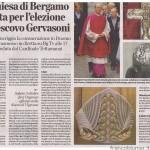 L'eco di Bergamo 27 settembre 2013 Mons. Gervasoni
