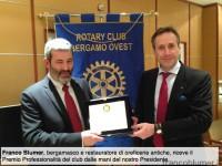 Rotary Bergamo ovest, premio professionalità