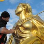 restauro e ridoratura della Madonnina del duomo di Milano