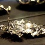 foglia in lamina d'argento 925