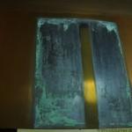 Restauro delle lastre di Roberto Ciaccio