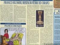 Franco Blumer, restauratore e orafo