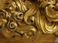 scultura in rame dorato, intervento di pulitura laser