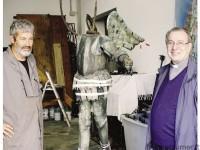 Franco Blumer con Don Aldo Passerini